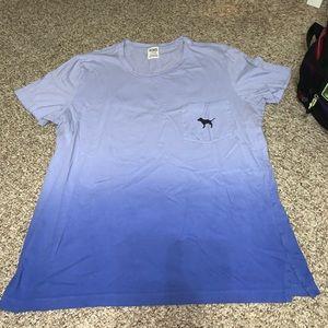 Purple to blue ombre Victoria's Secret shirt